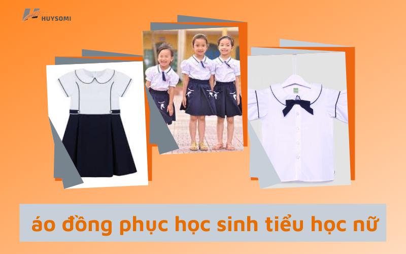 Áo đồng phục học sinh tiểu học nữ dễ thương tinh tế