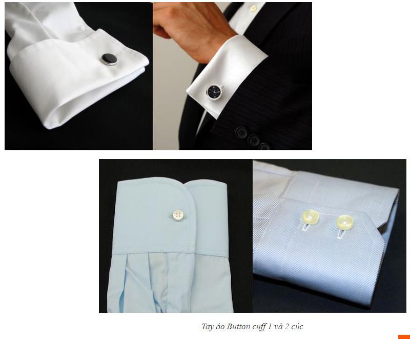 Tay áo sơ mi đồng phục thường dùng