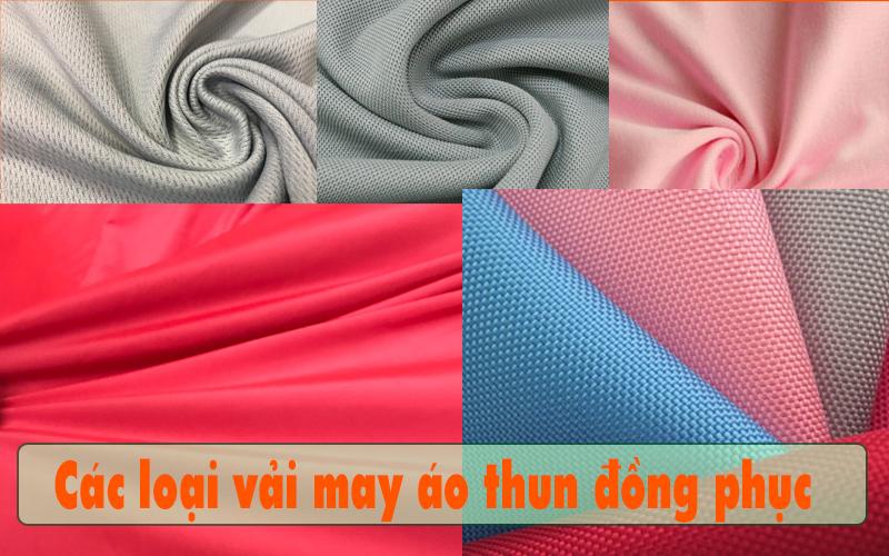 Sản xuất áo thun đồng phục bằng vải gì